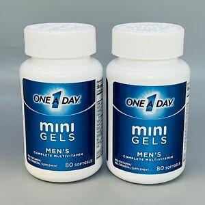One A Day Mini Gels Men's Multivitamins for Men, 80 Softgels 2PK Exp 1/22+