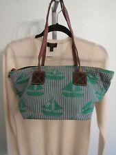 DOONEY & BOURKE Handbags Shopper Tote Green Gray Sail Boat St. Patricks Day Bag