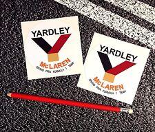 YARDLEY McLAREN Classic f1 Stickers 1972 Grand prix Garage Car Decals Formula 1