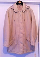 BHS Ladies Wheat White Coat. UK Size 10. Lighweight yet super-warm.