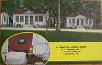 1940 Postcard: Allenwood Motel - Louisville, Georgia GA