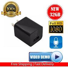 1080P Spy Camera UX-6 ScoutOut DVR AC Adapter USB Wall Charger 32GB Surveillan V