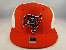 Tampa Bay Buccaneers NFL Reebok Fitted Cap Hat Size 7 Red White Brown