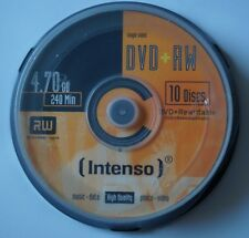 Intenso DVD + RW 4.7GB Storage Media 10pcs cakebox, 4.7Gb DVD-RW