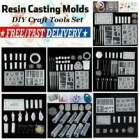 AU DIY Resin Casting Craft Mold Set Silicone Making Jewelry Pendant Mould Kit