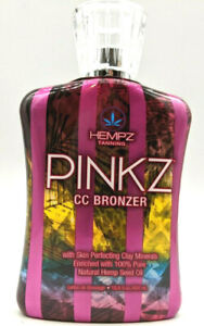 Hempz Tanning PINKZ CC Color Correcting Bronzer Indoor Tanning Bed Lotion 13.5oz