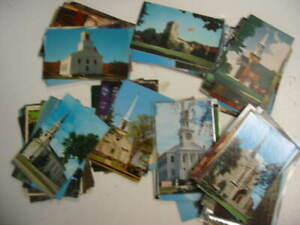 100 Church Postcard Lot