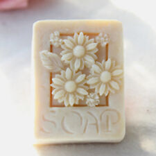 Silicone Mold Soap Craft Chrysanthemum Flower Rectangle Mold for Candle Wax