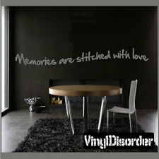Memories are stitched with love Wall Quote Mural Decal-antiquephotoquotes10