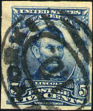 1908 US Stamp #315 5c Used F/VF New York Cancel Catalogue Value $1250