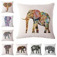 Elephant Sofa Pillow Case Cotton Linen Fashion Throw Cushion Cover Home Decor