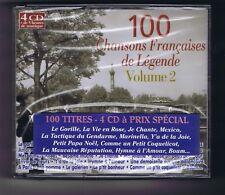 4 CDs ( NEUF) 100 CHANSONS FRANCAISES DE LEGENDE VOLUME 2