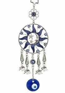 Turkish Blue Evil Eye Protective Wall Hanging Decor Amulet Ornament -7