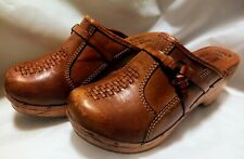 Vintage Deadstock Wooden Clogs By Pace Setters Size 8