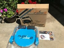Flex Core 8 Trainer Exercise Machine Training Guide Workout Meal Plan DVD New
