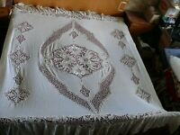 #1775  Beautiful Vintage Hand Made Coverlet Bedspread 230cm/190cm(90''x74'')