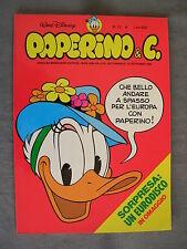 PAPERINO E C. #  13 - 27 settembre 1981 - CON INSERTO - WALT DISNEY - OTTIMO