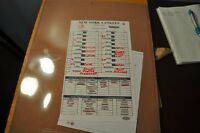 New York Yankees Game Used Lineup card Steiner Sports premium game