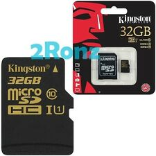 Kingston 32GB 32G 90MB/s Micro SDHC SD TF Card UHS-I Class 10+SD Adapter Mobile