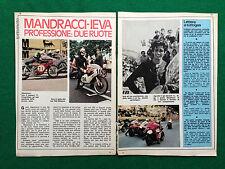 CC94 Clipping Ritaglio (Anni '70) - GUIDO MANDRACCI ALBERTO IEVA , MOTOCICLISMO