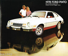1978 Ford PINTO Brochure / Pamphlet : RUNABOUT,PONY,WAGON,Squire,Cruising,