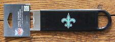 New Orleans Saints Steel Speed Bartender Bottle Opener NFL Football Flat Bar