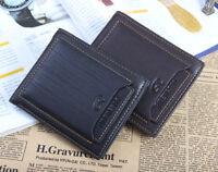 Men's leather Wallet Pockets ID credit Card holder Clutch Bifold money purse
