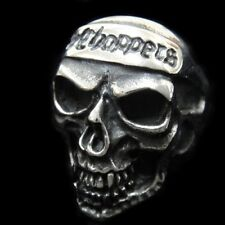 Chopper 1%ER Crazy Outlaw SKULL Silver Ring for Harley Davidson Motor Biker TR91