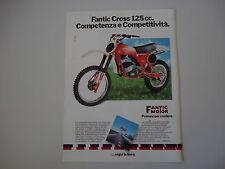 advertising Pubblicità 1980 MOTO FANTIC CROSS 125 COMPETIZIONE