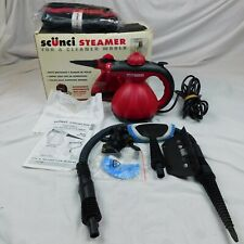 Scunci Steamer SS1000 Hand Held Steam Cleaner W/Attachments, Manual, & Bag