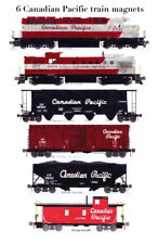 Canadian Pacific Maroon-era Freight Train 6 magnets Andy Fletcher