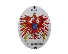 Mark Brandenburg Email Schild Fahne Emaille 11,5 x 15cm Tür Deko NEUWARE