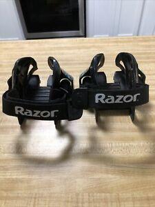 Razor Jetts Heel Wheels Adjustable Strap Onto Shoes Green Heelys Skates