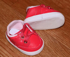 New Red Vinyl Sneakers Fit American Girl, Bitty Baby & Similar-sized Dolls