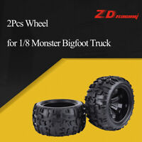 2Pcs ZD Racing 150mm Wheel Rim and Tires for 1/8 Traxxas Monster Bigfoot Truck