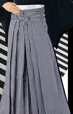 Japanese Men's Traditional Kimono HAKAMA Pants Polyester Striped Size:L JAPAN