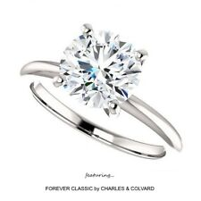 3.00 Carat Moissanite Forever Classic Solitaire Ring (Charles & Colvard)