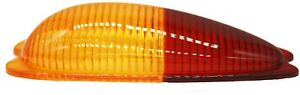 Tail Light Lens Pair, Euro Amber/Red Teardrop,Porsche 356A/B/C,New