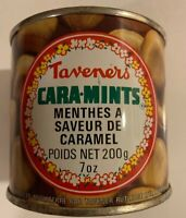 Vintage 1970's Full Unopened Taveners Cara-Mints Tin Can Caramel Flavored Mints