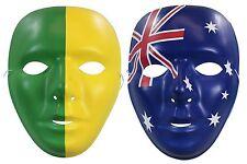 Australian Party Supplies - Face Mask - Green & Gold OR Australian Flag