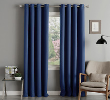 """Akatsi Solid Thermal Blackout Grommet Window Curtain Panel 55"""" Extra Wide Drapes"""