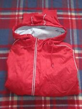 TOPMAN Light MEN'S Lined Bomber Jacket Size XL RED Shower Proof New Without Tags