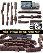 """1/72 Sand Bag Walls Set #3 """"Check Point"""" - Value Gear War Gaming Dioramas"""