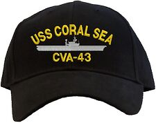 USS Coral Sea CVA-43 Embroidered Baseball Cap - Available in 7 Colors Hat