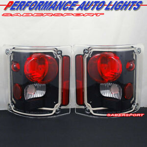 Set of Pair Black Taillights for 1973-1987 GMC Chevy C/K C10 Full Size Truck