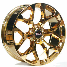 "24"" STR Wheels 701 Candy Gold Snowflake Replica Rims Fit Silverado 1500 (B8)(Fits: 2011 Kia)"