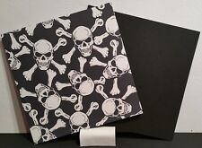 "Kydex Infused Poison skull & bones  Pattern W/Blk Kydex Approx 7 7/8"" x 7 7/8"""