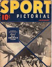 SPORT PICTORIAL #4 Jan 1937 Baseball FOOTBALL Hockey BASKETBALL Boxing ++ PHOTOS