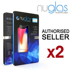 2x NUGLAS Apple iPhone 11 Pro XS Max XR 8 Plus Tempered Glass Screen Protector