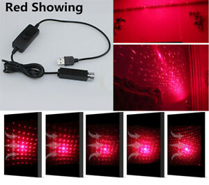 1x Red Showing Car Home Kid Room Star Lights USB Plug Atmosphere Lamp Decoration